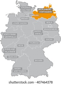 map of german federal states in english mecklenburg vorpommern