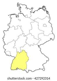 Map - Germany, Baden-Wuerttemberg