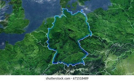 Map Of GERMANY Elements of this image furnished by NASA