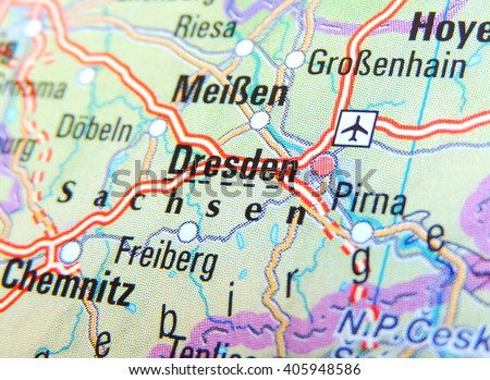 Map Germany Focus On Dresden Stock Photo Edit Now 405948586