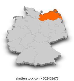 Mecklenburgvorpommern Outline Stock Images RoyaltyFree Images