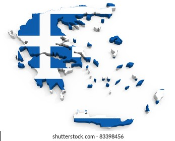 Map of Greece with map, Hellenic Republic