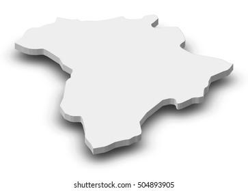Map - Guatemala (Guatemala) - 3D-Illustration