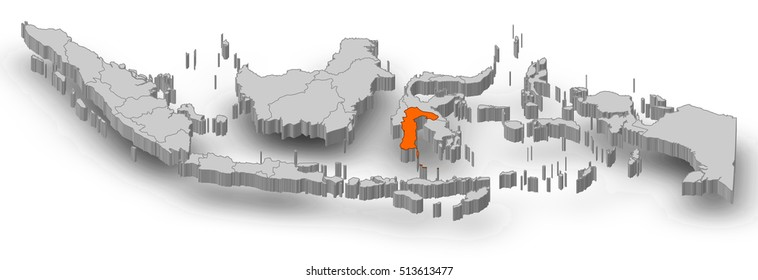 Sulawesi Map Images Stock Photos Vectors Shutterstock