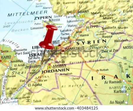 Map Israel Pin Set On Jerusalem Stockfoto (Jetzt bearbeiten ...