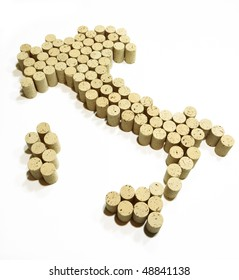 Map of Italy made from corks