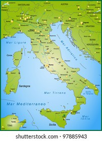 map of italy with neighboring countries and capitals