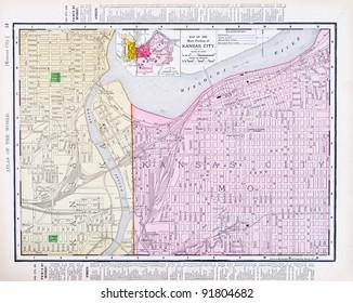 Kansas City Map Images, Stock Photos & Vectors | Shutterstock
