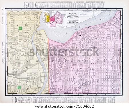 Map Kansas City Kansas Kansas City Stock Photo Edit Now 91804682