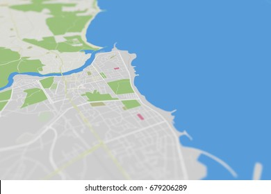 map of land next to water