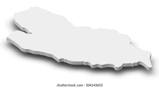 Map - Lobaye (Central African Republic) - 3D-Illustration
