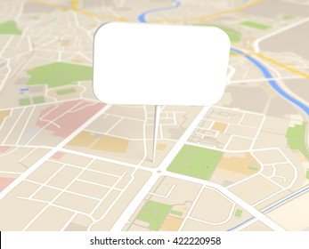 map locator icon 3D illustration