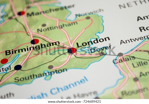 A Map Of London England.Map London England 2017 Stock Photo Edit Now 724689421