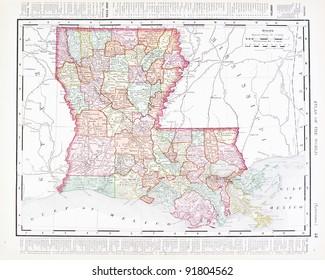 Louisiana Map Images, Stock Photos & Vectors   Shutterstock