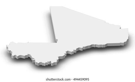 Map - Mali - 3D-Illustration