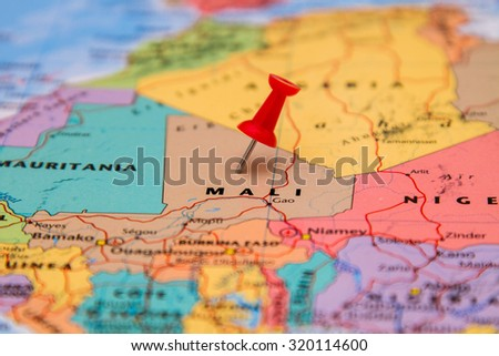 Map Mali Red Pin Stock Photo (Edit Now) 320114600 - Shutterstock
