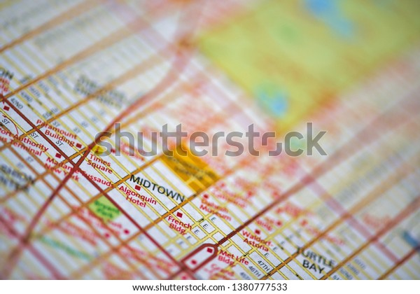 Map Of Midtown New York.Map Manhattan New York City Usa Stock Photo Edit Now 1380777533