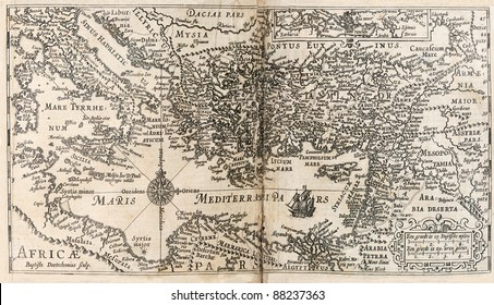 Ancient Mediterranean Map Stock Photos, Images & Photography ...