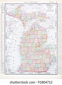 Lake Michigan Map Stock Photos Images Photography Shutterstock - Lake-michigan-us-map