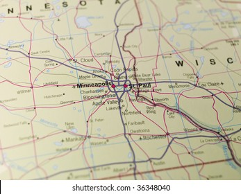 Map of Minneapolis