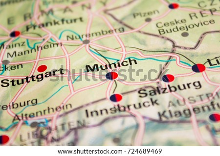 Map Munich Germany 2017 Stock Photo (Edit Now) 724689469 - Shutterstock