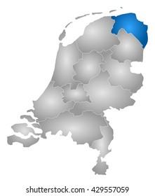 Map - Netherlands, Groningen