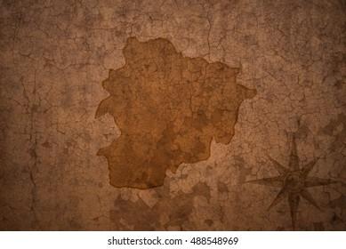 map on vintage crack paper background