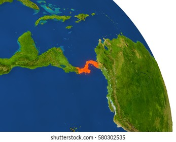Florida shaded relief map shows major stock illustration 10273414 map of panama with surrounding region on planet earth 3d illustration with highly detailed planet publicscrutiny Gallery