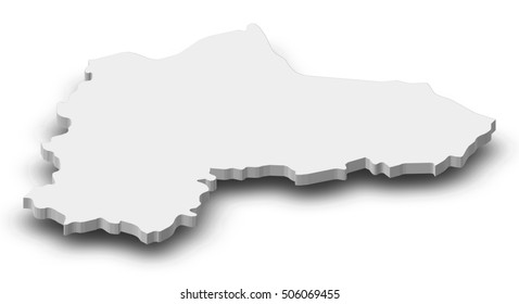 Map - Panevezys (Lithuania) - 3D-Illustration