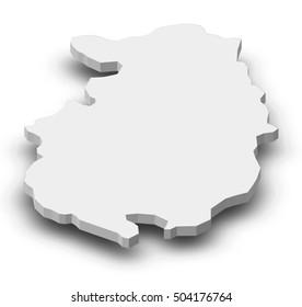 Map - Pazardzhik (Bulgaria) - 3D-Illustration