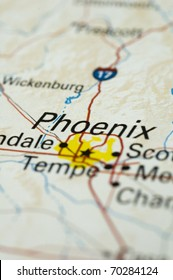 Map of Phoenix. Map is Copyright Free Off a Government Website.