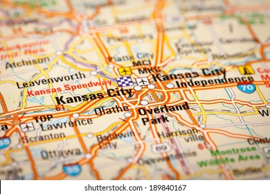 Map Photography: Kansas City on a Road Map