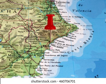 Provincia Alicante Mapa Stock Photos Images Photography