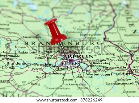 Berlin Germany World Map.Map Pin Point Berlin Germany Stock Photo Edit Now 378226249