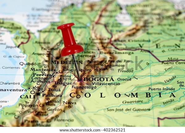 Map Pin Point Bogota Colombia Stockfoto (Jetzt bearbeiten ...