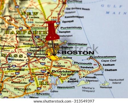 Boston On Usa Map.Map Pin Point Boston Usa Stock Photo Edit Now 313549397 Shutterstock