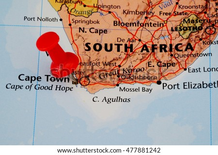 Map Pin Point Cape Town South Stock Photo (Edit Now) 477881242 ...