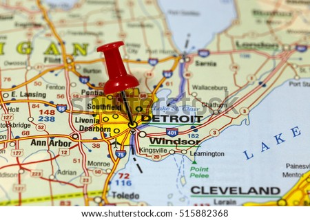 Detroit On Usa Map on
