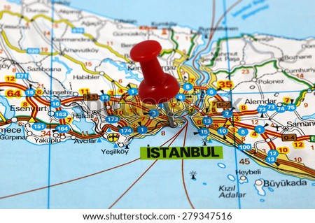 Map Pin Point Istanbul Turkey Stock Photo (Edit Now) 279347516 ...