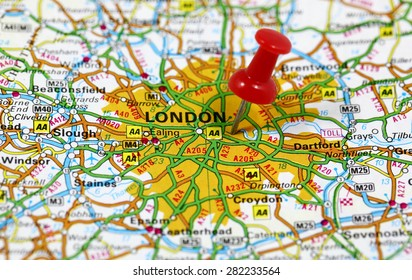 A Map Of London England.Map London Street Stock Photos Images Photography Shutterstock