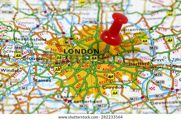 London In England Map.Map Pin Point London England Stock Photo Edit Now 282233564