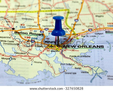 New Orleans In Usa Map.Map Pin Point New Orleans Usa Stock Photo Edit Now 327650828