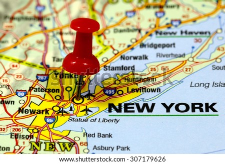 New York On Usa Map.Map Pin Point New York Usa Stock Photo Edit Now 307179626