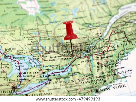 Map Pin Point Ottawa Canada Stock Photo (Edit Now) 479499193 ...