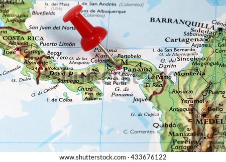 Map Pin Point Panama City Panama Stockfoto (Jetzt bearbeiten ...
