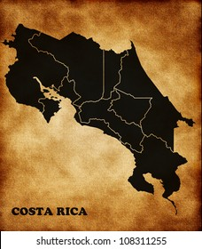 Map of the Republic of Costa Rica