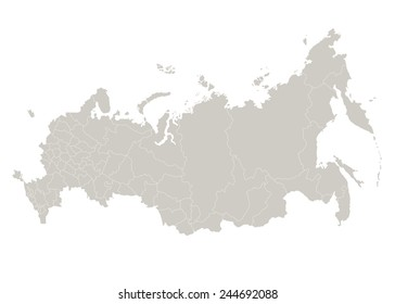 Map of Russia on white background