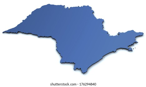 Map of Sao Paulo - Brazil