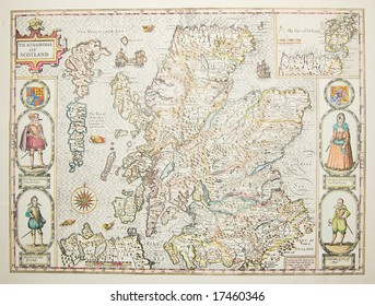 Old Map Scotland Stock Photos, Images & Photography