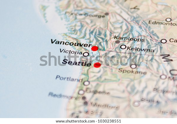 Map Of America 2017.Map Seattle United States America 2017 Stock Photo Edit Now 1030238551